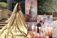 Devítipatrový dort a třímetrová vlečka s křišťály! Podívejte se na luxusní svatby boháčů z Filipín
