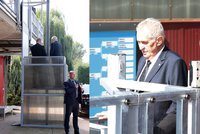 """Zeman se ke sportovcům vyvezl výtahem. """"Zlomil jsem si nohu,"""" zavzpomínal"""