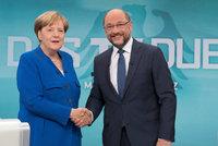 """Předvolební """"bitku"""" se Schulzem vyhrála Merkelová. Pro Němce je důvěryhodnější"""