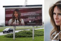 """Trumpova žena na billboardu terčem kvůli angličtině. Chorvaté: """"Nešlo o zesměšnění"""""""