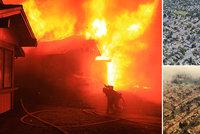 """""""Stromy plály jako pochodně."""" Kalifornii ničí požáry, zabily nejméně 17 lidí"""
