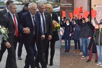 """""""Přijel k vám invalida,"""" hlásil zraněný Zeman. Policie zatkla protestujícího zvukaře"""