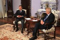 Za invazi mají být Češi rádi? Ruský premiér se po setkání se Zemanem distancoval od článku