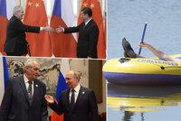 Čína, Rusko, Vysočina: Zeman cestoval méně než Klaus a Havel. Naposledy vyjede na Slovensko