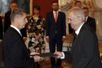 Zeman jmenoval Babiše premiérem a varoval ho: Do vysokých stromů bije blesk