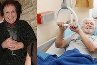 Opuštěný mim Čejka (84) po očkování proti covidu: Dorozumívá se jen úsměvem