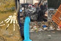 Místo, kde se třídí papír a plast: V barevných kontejnerech skončil i vibrátor, motor nebo lidské ostatky