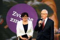 Drahoš v projevu poděkoval lidem za účast ve volbách, výsledky zatím nekomentoval