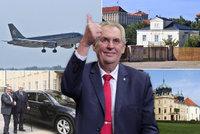 Zemanův sladký život na Hradě: Tři sídla, dvě luxusní auta a čtvrt milionu s rentou