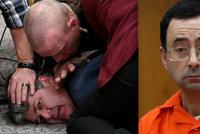 """Dejte mi pět minut s démonem."" Otec gymnastek se vrhl u soudu na doktora-pedofila"