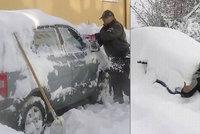 Sníh zaskočil Chorvaty: Napadly jim až metrové haldy