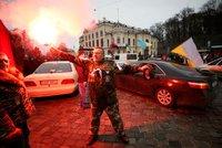 """""""Odstraňte prohnilý systém."""" Pět tisíc Ukrajinců demonstrovalo, svolal je opoziční lídr"""