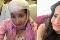 Ivanka bez poloviny obličeje podstoupila náročnou operaci. Konečně slyší na pravé ucho