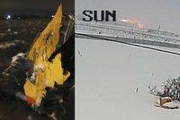 Explozi ruského letadla natočila kamera. Chyba pilota, námraza nebo porucha?