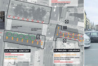 Víc přechodů a vydlážděné náměstí I. P. Pavlova: Okolí magistrály se může změnit ještě letos