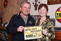 Výherce Denní hry Trháku Zdeněk Fiala (71) z Kostelce nad Labem: 5 tisíc utratíme na Moravě