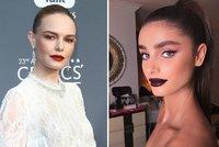 Make-up trendy pro jaro: Lila stíny, tmavá rtěnka a červené rty i víčka