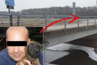 Brutální vražda policisty: Visel na mostku, na žlutém provazu, prozradil svědek, který tělo našel