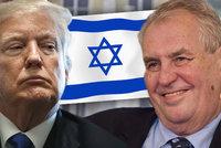 Přesun české ambasády z Tel Avivu do Jeruzaléma: Zeman chce předběhnout Trumpa