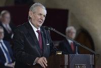 Zemanův inaugurační projev slovo od slova: Jak to schytal Bakala a novináři?