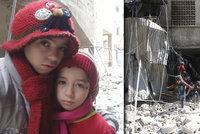 """""""Pomozte nám, prosím."""" Zoufalé holčičky se ozvaly z rozbombardovaného města"""