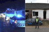 Tragická noc na Znojemsku: Při požáru zemřely tři malé děti! Hasiči se k nim nemohli dostat!