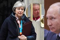 Mayová kvůli smrti agenta vyhodila z Británie rekordní počet ruských diplomatů