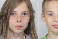 Martina (13) s Markem (12) se ztratili! Neviděli jste sourozence z Brněnska?