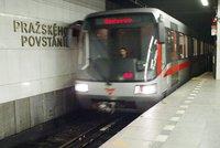 Komplikace v metru o prodlouženém víkendu: Nepojede mezi Kačerovem a Pražského povstání