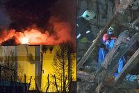 Spoušť a zkáza: Hasiči natočili první záběry interiéru vyhořelého nákupního centra