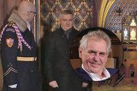 Lišák Zeman: Dělal, že jde pro klenoty ... a zůstal za dveřmi