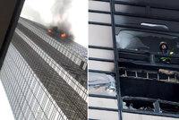 Trumpův mrakodrap v plamenech: Jeden muž uhořel, další jsou zranění