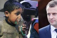 Macron: Asad použil chemické zbraně v Dúmě. Odveta přijde v pravou chvíli