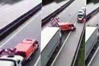 Na dálnici D11 málem došlo k tragédii: Dělníci unikli smrti jen o vlásek!
