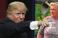 Jako by Trumpovi z oka vypadla! Farmářka vypadá jako americký prezident