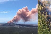 Erupce sopky na Havaji: Tisíce lidí prchají, láva teče po ulicích