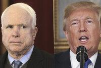Nechci na svém pohřbu Trumpa, chválí tyrany, vzkázal McCain s nádorem na mozku