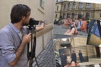 Fotí místa v Praze a vkládá do nich záběry z filmů, co se tu točily. Musa se stává hvězdou internetu