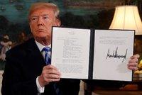 """Trump """"proti všem"""": Jadernou dohodu s Íránem shodil ze stolu. A obnoví sankce"""