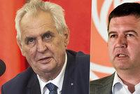 Zeman se sejde s Hamáčkem v Ostravě. Babiš mu poslal koaliční smlouvu přes Ovčáčka