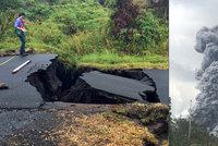 Sloup dýmu vysoký 10 kilometrů: Sopka na Havaji po týdnech obav vybuchla