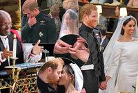 10 nejsilnějších okamžiků ze svatby Harryho a Meghan: Rozvášněný reverend, nejisté ANO a slzy dojetí v očích Harryho
