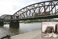 Železniční most mezi Smíchovem a Výtoní: Místo zbourání ho opraví. Správa železnic vypíše soutěž