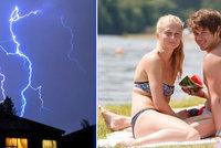 Teplotní rekordy v Česku přinesly i 33,5 °C. Na Moravě jsou bouřky, sledujte radar