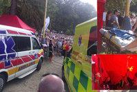 Skákací hrad plný dětí se převrátil, šest jich skončilo v nemocnici: Policie hledá svědky