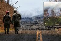 Havajanům láva odřízla ústupovou cestu, jsou bez proudu i bez zdroje pitné vody