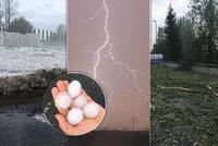Hromy, blesky, kroupy vybíjely okna: Českem se prohnaly silné bouřky a hrozí dál. Sledujte radar