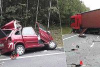 Dálnici D6 uzavřela tragická nehoda: Řidič osobáku zemřel po srážce s kamionem