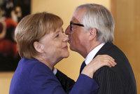 Juncker chystá poslední projev o EU. Svou řeč řešil s Merkelovou i Macronem