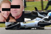 Motorkář Jozef (†52) si před svatbou zaplatil jízdu smrti: Svodidla mu prorazila plíci